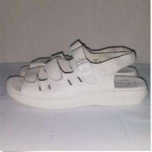 Propet Sandals Shoes Breeze Walker White Size 8.5